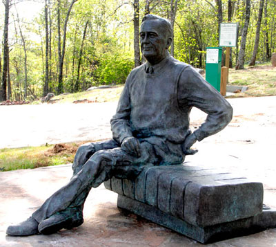 Franklin D. Roosevelt Sculpture in Pine Mountain, GA